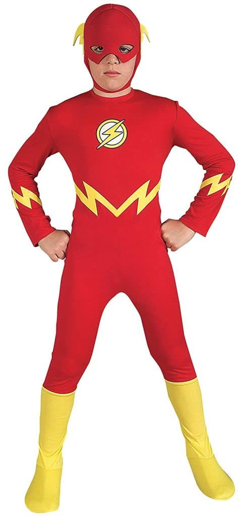 The Flash youth costume for Halloween.
