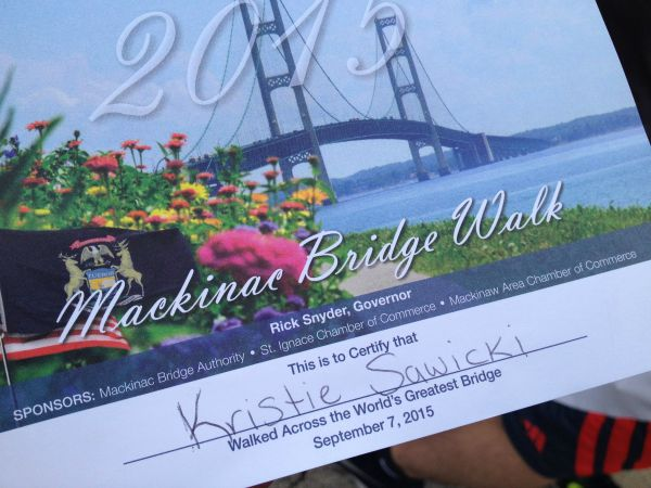 Mackinae bridge walk.