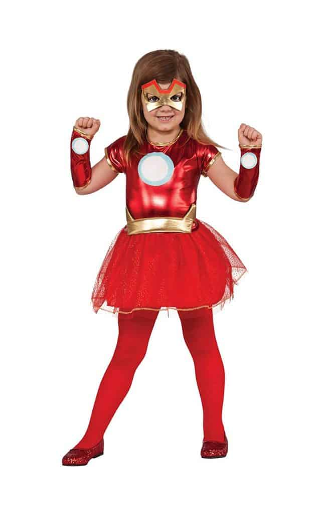 Girls Iron Man tutu Halloween dress costume.