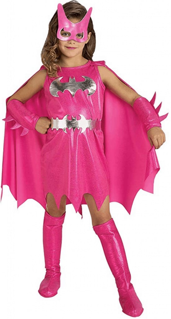 Pink Batgirl tutu Halloween dress costume.