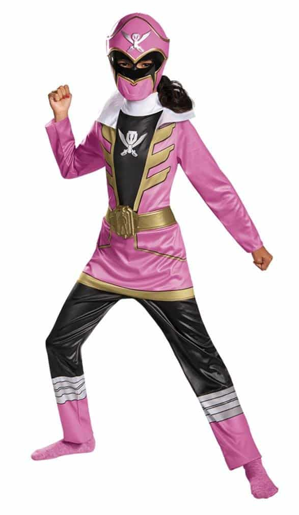 Pink ranger girl\'s Halloween costume.