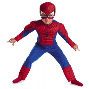 Child\'s Spiderman Halloween costume.