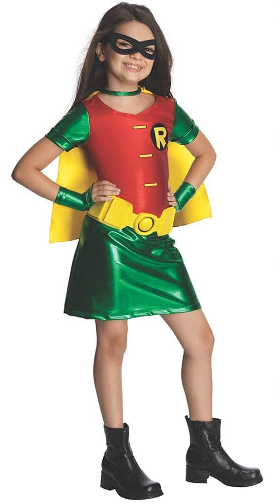 Youth teen titals Robin girls Halloween dress costume.