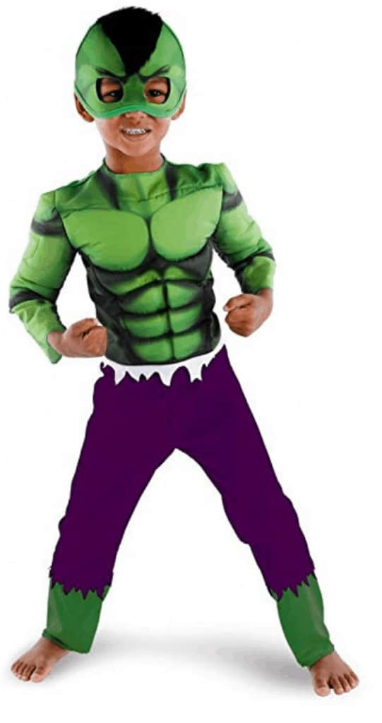 The Hulk youth Halloween costume.