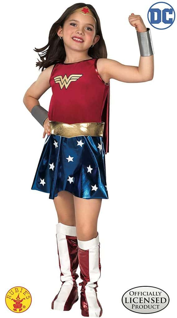 Wonder woman child\'s Halloween costume.