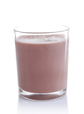 A glass of chocolate milk. National Chocolate Day Recipes