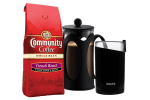 Community Coffee and Mug. The Best Coffee Gift Sets
