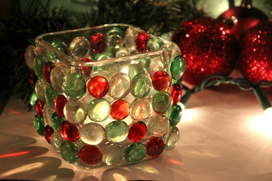 DIY Christmas light prism Candle