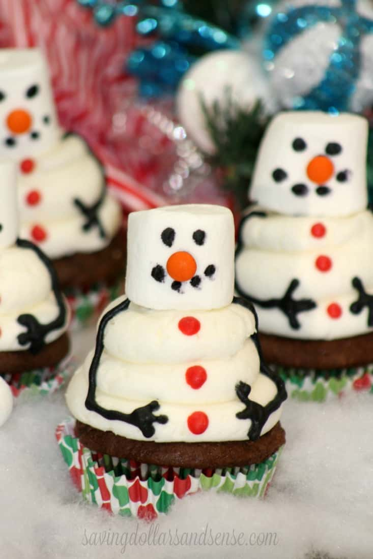Snowman Cupcake 6-2
