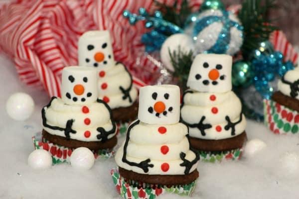 Snowman Cupcake 6-3