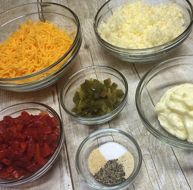 Three Cheese Dip Ingredients