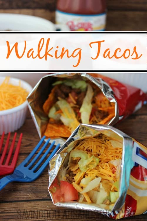 These walking tacos are perfect for any gathering, especially barbecues and backyard birthday parties.