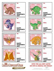 The Land Before Time Valentine's Day Cards