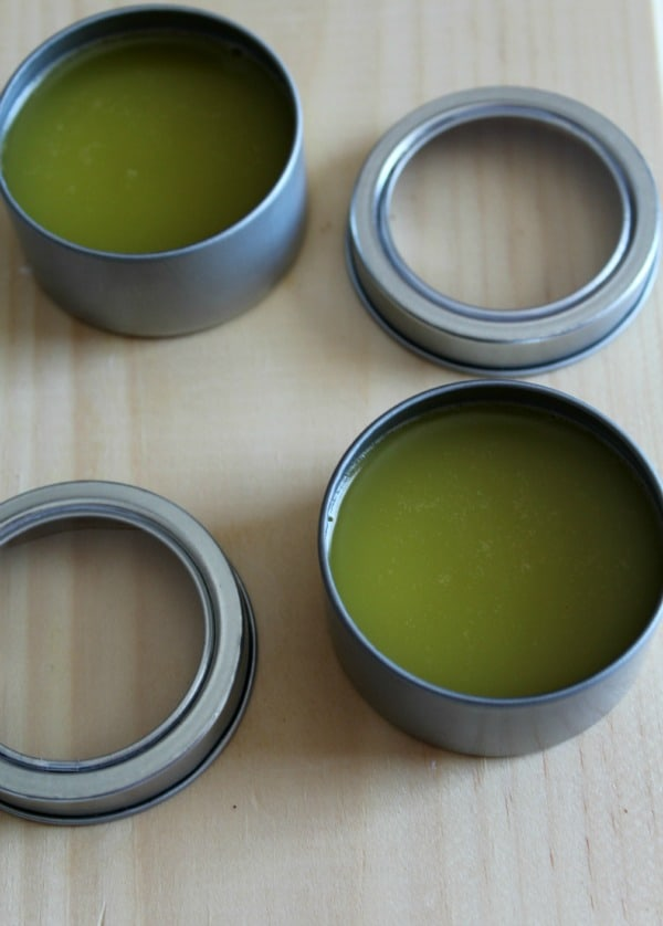 Sleep Salve Containers filled with Homemade Sleep Salve