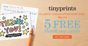 5 FREE Thank You Cards