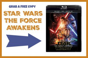 Star Wars The Force Awakens FREE DVD/Blu-ray!!!