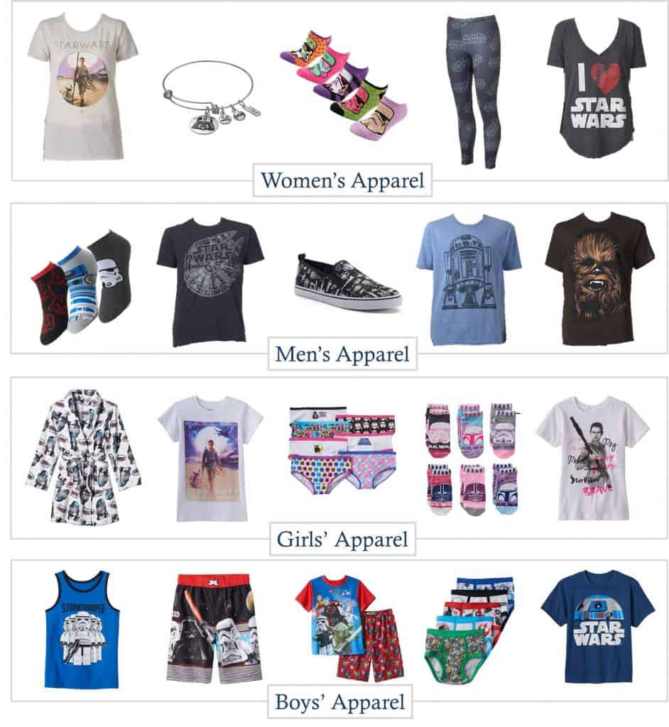 5.21 Star Wars Apparel for the Family from Kohls IMAGE
