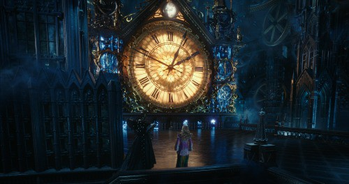 Alice (Mia Wasikowska) returns to Underland and meets Time (Sacha Baron Cohen) in Disney\'s ALICE THROUGH THE LOOKING GLASS.