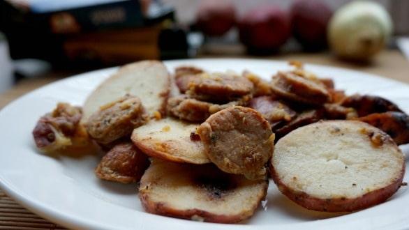 Cajun Potato Andouille Skillet Dish