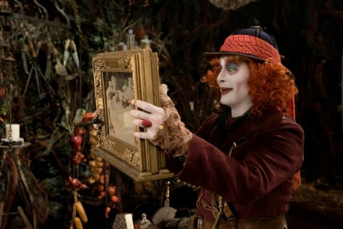 Alice (Mia Wasikowska) returns to the whimsical world of Underland to help the Hatter (Johnny Depp) in Disney\'s ALICE THROUGH THE LOOKING GLASS, an all-new adventure featuring the unforgettable characters from Lewis Carroll\'s beloved stories.