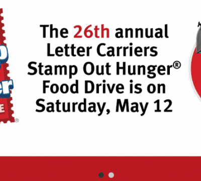 Post Office Food Drive Helps Local Churches:<br>LHCF Feeds 2,000 Individual Each Month!