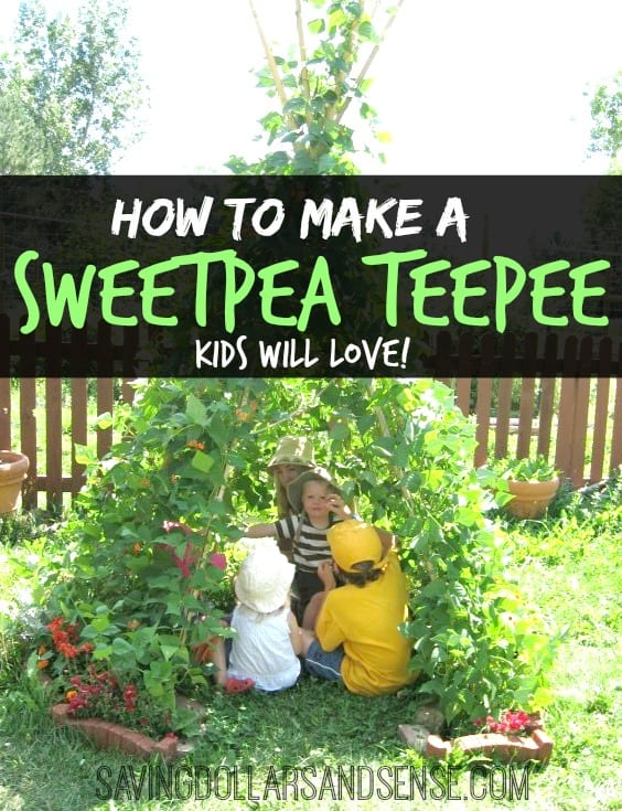 how to make a kid\'s sweetpea teepee. A DIY tutorial.