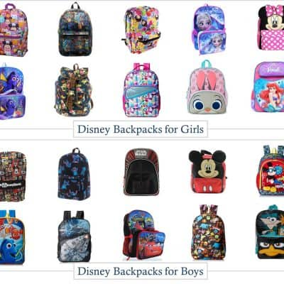 7.21 Amazon Round Up - 20 Disney Backpacks for Boys and Girls COLLAGE
