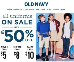 School Uniform Deals Starting at $5 Each!