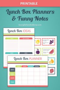 Printable Lunch Box Planner Set