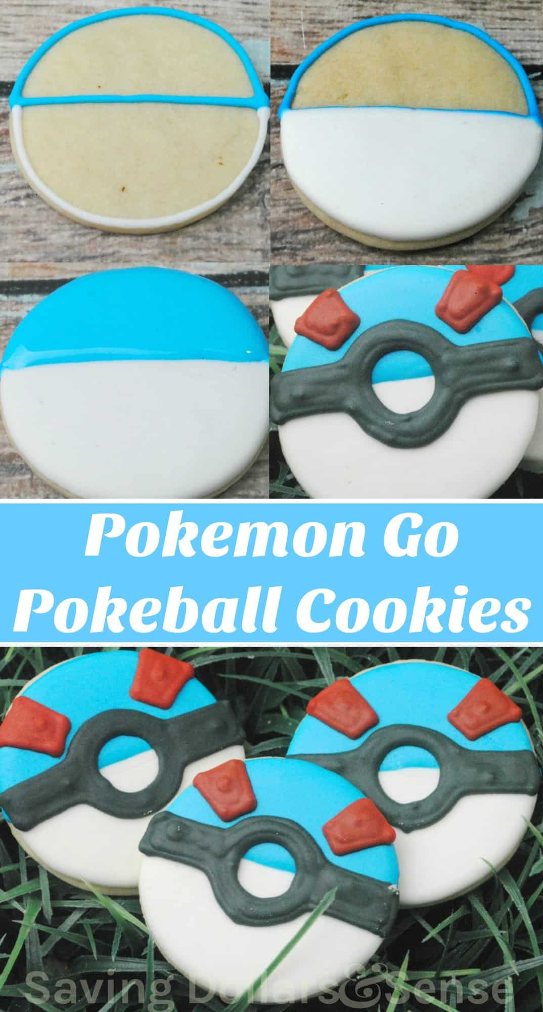Pokemon Go Pokeball Cookies