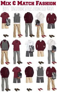 Mix & Match School Uniforms for Boys