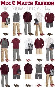 Mix & Match School Uniforms for Boys