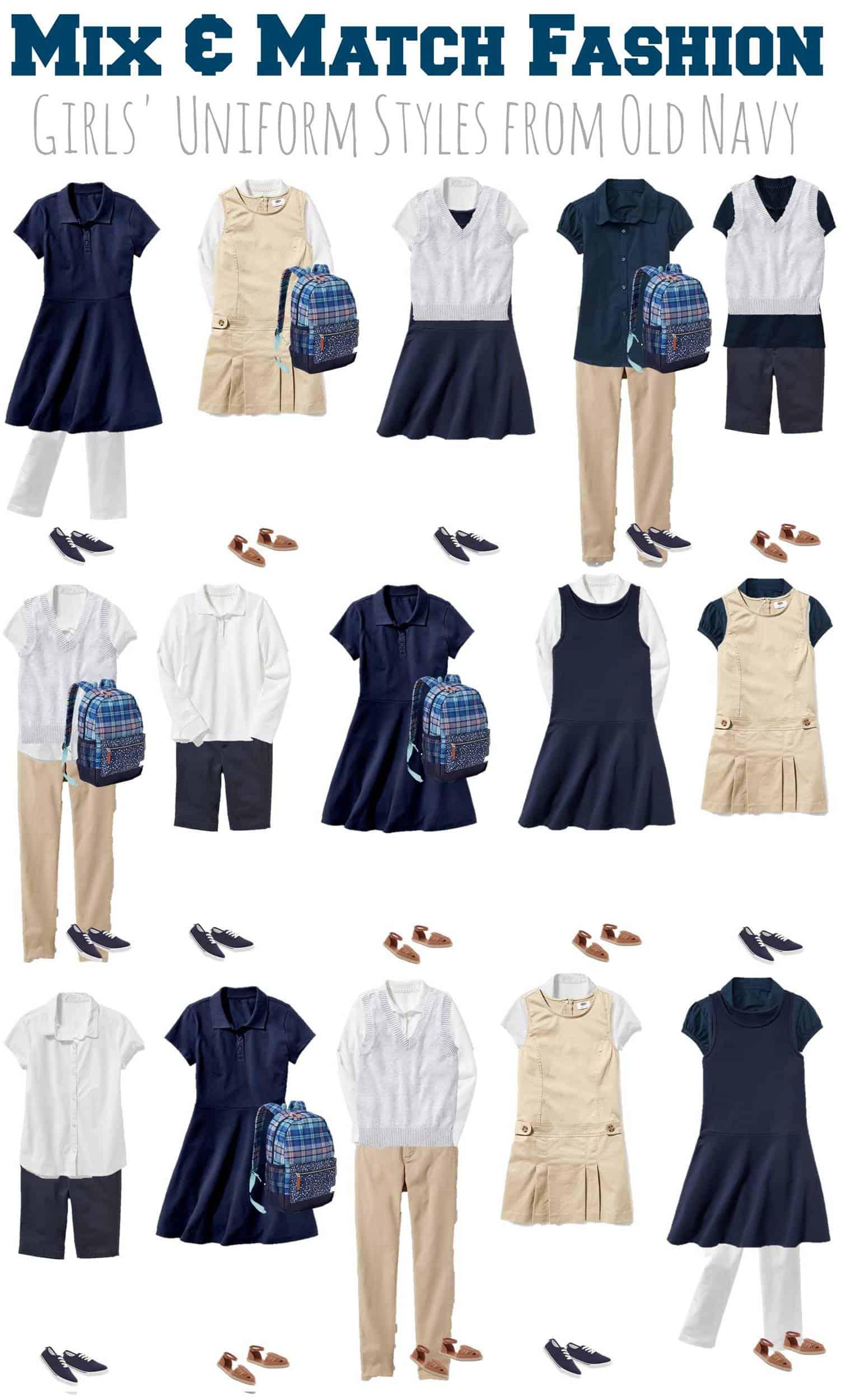 Mix & Match School Uniforms for Girls