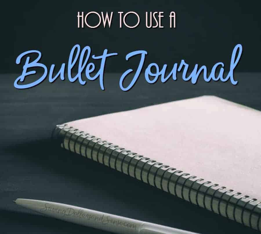 How to Use a Bullet Journal for Budgeting