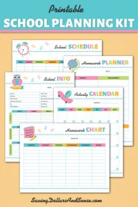 Printable School Planning Kit