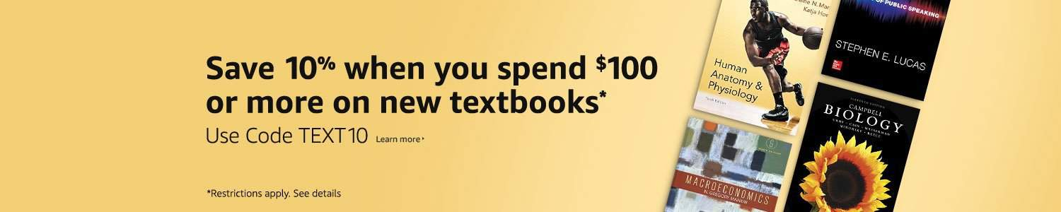 Save money on textbooks with this Amazon deal.