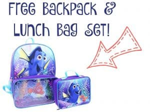 Free Disney Finding Dory Backpack & Lunch Bag Set