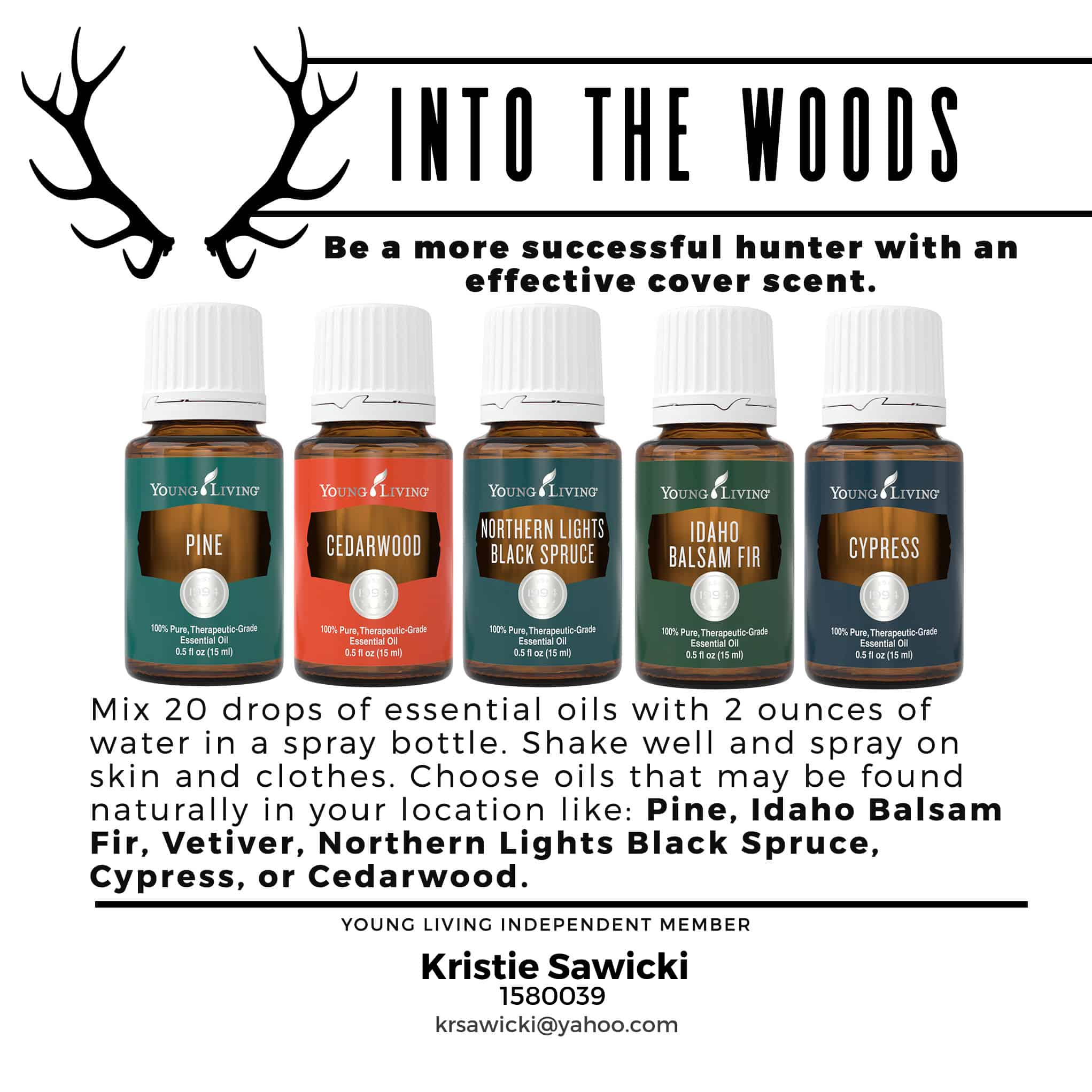 Into the woods, a man\'s essential oil.