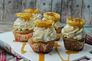 Pancake Waffle Cupcake with Maple Frosting