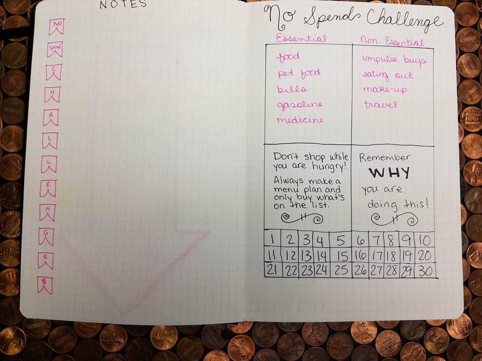 expense tracker bullet journal