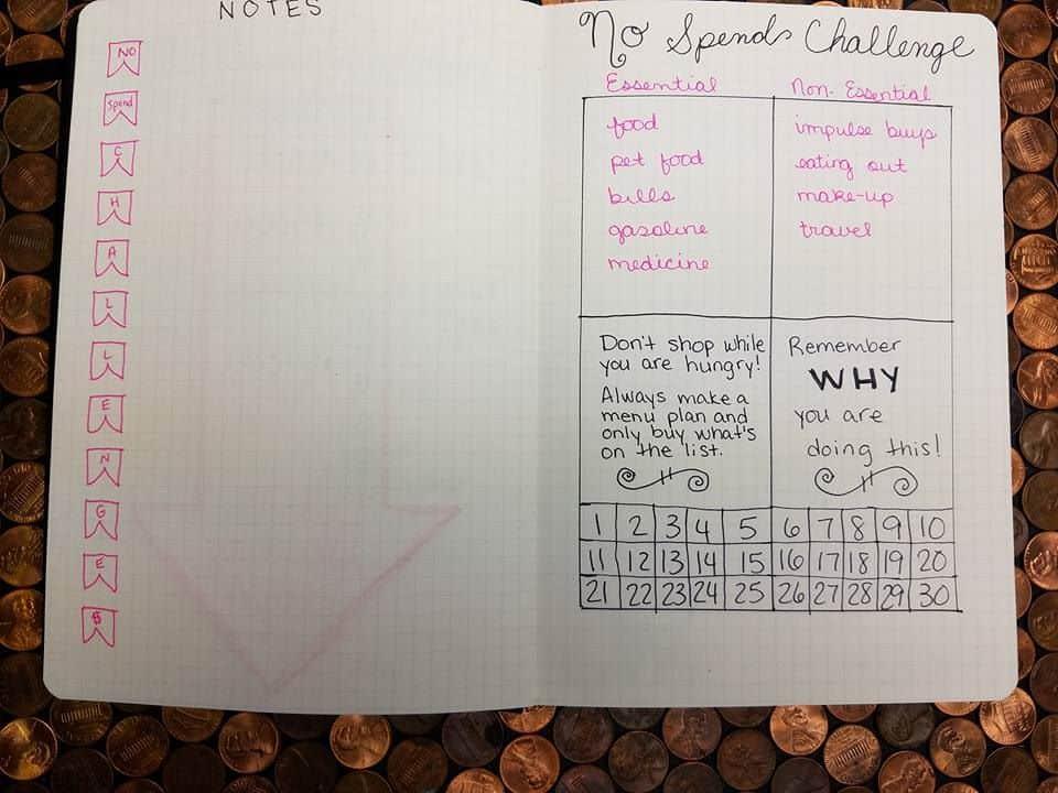 saving no spend challenge3