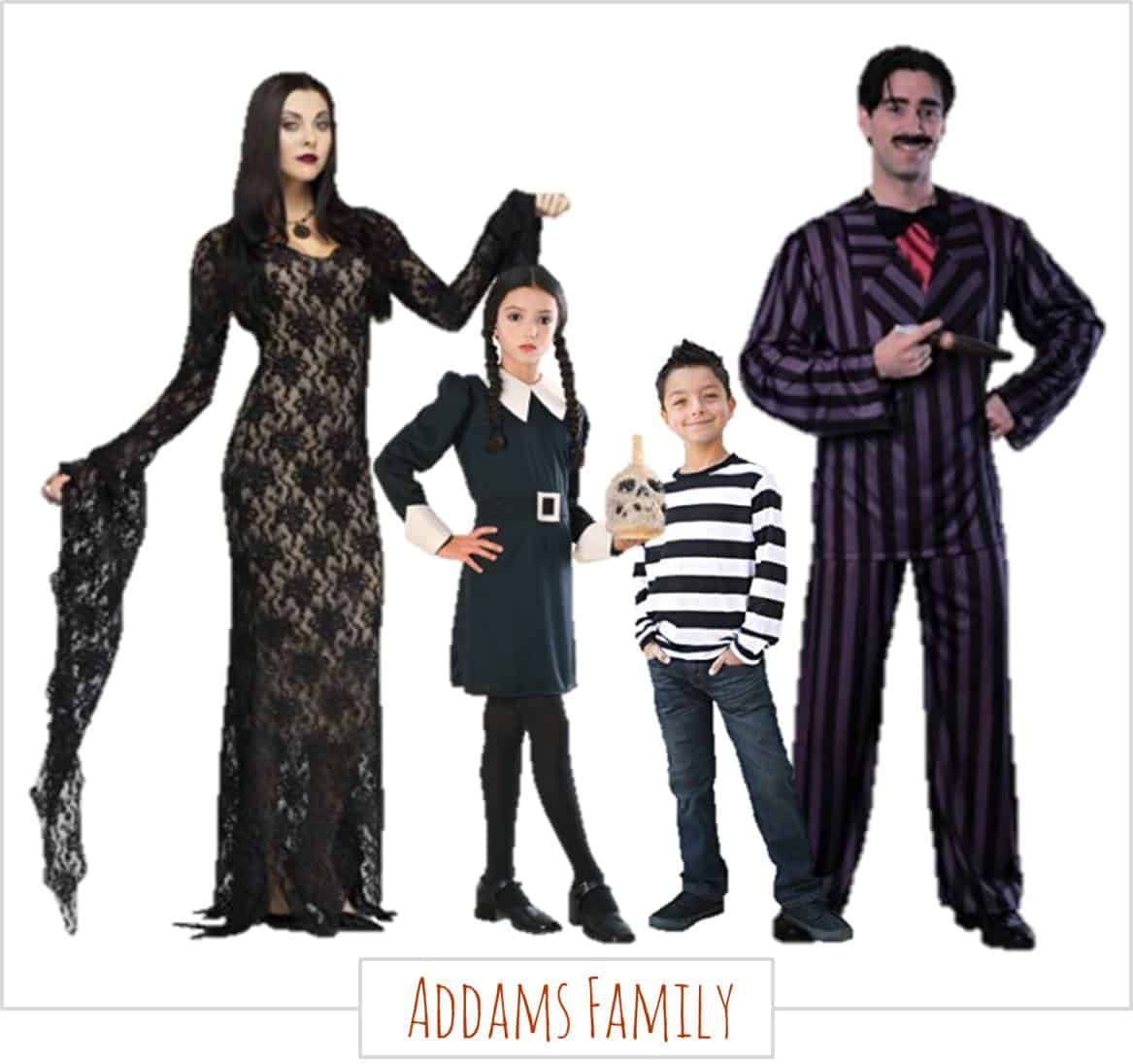 The Addams family,  Halloween Costumes for the Whole Family