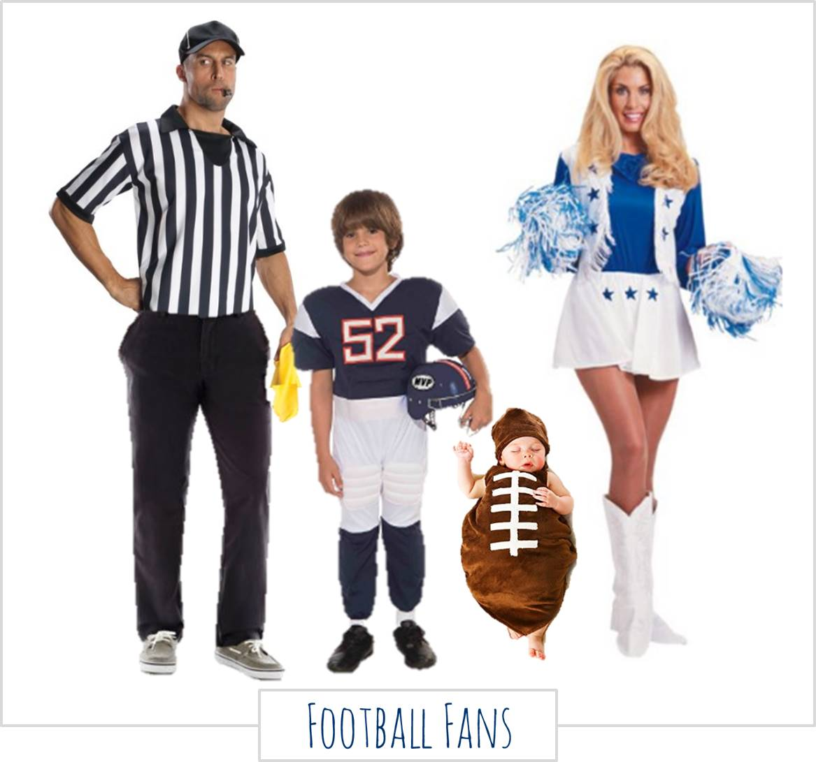 Football fans,  Halloween Costumes for the Whole Family