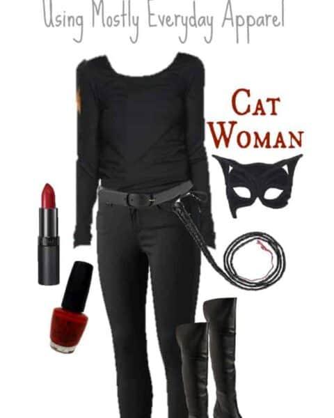 homemade cat woman costume