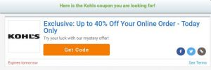 Kohl's Mystery Coupon up to 40% Off!