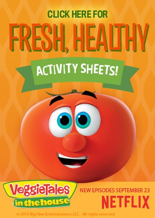 Free VeggieTales Fresh, Healthy Activity Sheets