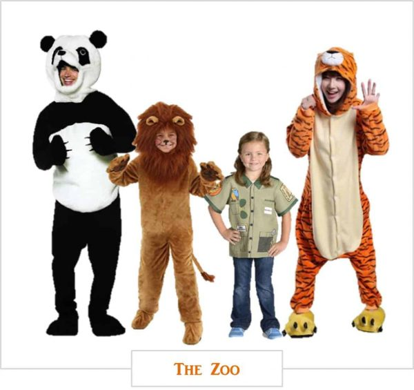 The zoo. Cute family Halloween costumes.