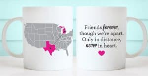 Custom Long Distance Map Mugs Make Thoughtful Gifts