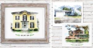 Watercolor House Portraits $18.99 (Was $60)
