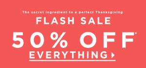 Loft 50% Off Thanksgiving Sale